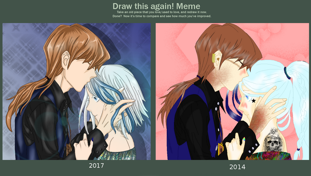 DRAW IT AGAIN  - A kiss on the happiness by DarkLordLuzifer