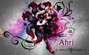 Ahri Wallpaper by BethanyHale