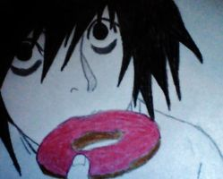 L's Doughnut- Death Note by EvaBirthday