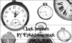 Clock brushes by ephedrina-stock