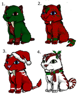 Christmas Sabertooth Adoptables -Open- by May5Rogers99
