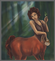 Female Centaur WIP 4 by kraveon