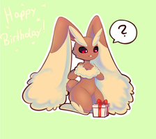 Birthday Lopunny by Joltik92