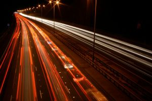 M25 Motorway Traffic Trails 5 by fruitycube