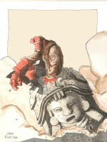 Hellboy by lorenzolamass