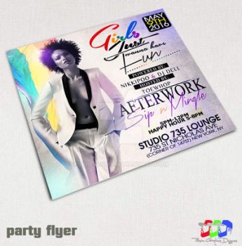 Girls Just wanna have Fun Party Flyer by PhilVision
