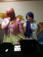 Adorable Fluttershy and Fabulous Rarity by Fainting-Ostrich