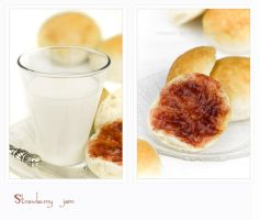 Strawberry jam with milk by shatinn