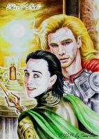 Thor Loki-Now We're Both Kings by beckpage