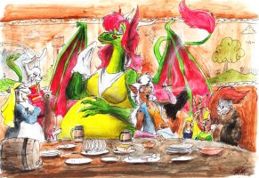 Redwall party crashers by Noratcat