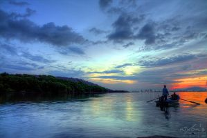 Sunrise of Dove Jetty - Penang by fighteden
