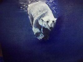 Polar Bear Diving by KaptainMyke