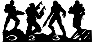 Halo Master Chief Collection - Silhouette Vector by firedragonmatty