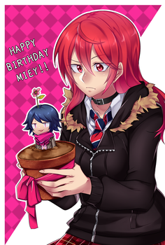Miey's birthday with herself in a pot by TerrainAKKA