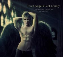 Even Angels Feel Lonely by MasoumehTavakoli-Art