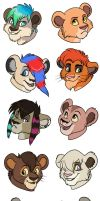 Kainaa chibi headshots by Miss-Melis