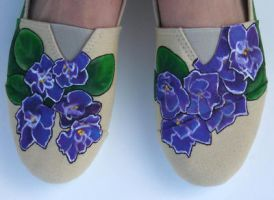 Affordable Brand Violet Painted Shoes 2 by Ceil