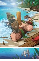 Baldy Washed Up At Shore + A Dead Dwarf by edwinhuang