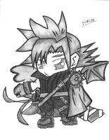 FFVII: Chibi Cloud Strife by tintin33
