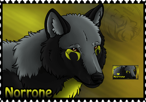 Norrone Stamp Commission by AzureHowlShilach