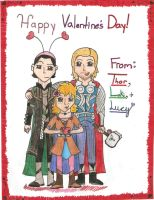 Happy Valentine's Day! From Thor, Loki, Lucy by AbbyCatWolff