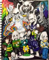 Asriel's AU Party by silvergeki