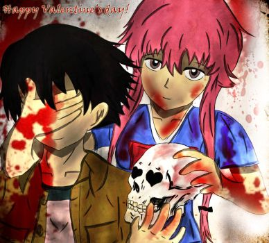 Mirai Nikki - Bloody Valentine's day - for contest by wohoowoo