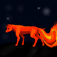 fire wolf by columbus1999