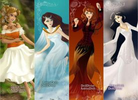 Four Elements - Female OCs by PwnedByPineapple