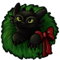 Have A Toothless Christmas by TsukiTsu