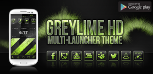 greyLIME HD Launcher Theme (Feature Graphic) by greyOCELOTdesign