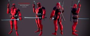 DeadPool Low Poly by spybg