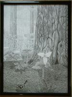 Forest Pen and Ink by Martenator