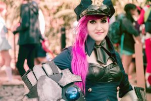 Officer Vi Cosplay League of Legends by spacechocolates