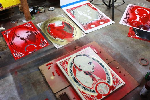Studio shot of some stencils by epyon5