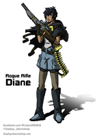 Project AEGIS: Rogue Rifle Diane by ZEroePHYRt