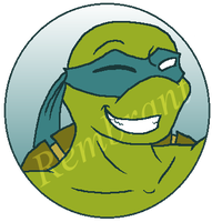 TMNT:Rembrant Button by kiananuva12