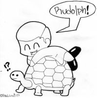 A Turtle Named Rudolph by PaulLuvr