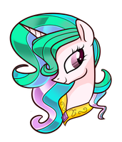 My little drawn Celestia by AaplePiee