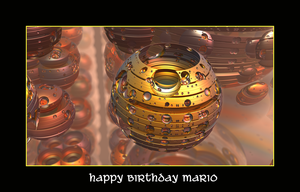 happy birthday Mario by fraterchaos