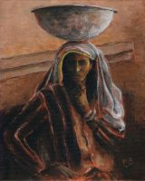 Indian Lady With Bowl by mbeckett