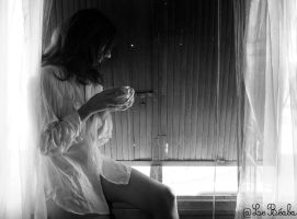 morning at the window 2 by Lebeaba