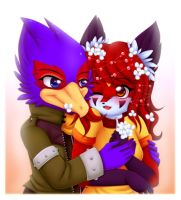 Falco and Hikari ::Contest Entry:: by luna777