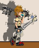 Roxas Coloured by deviantangel-378