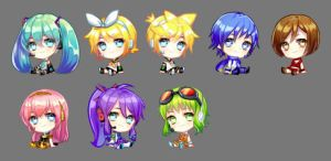 Vocaloid Chibi by kthelimit