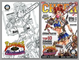 Zombies vs Cheerleaders vol 2 #1 B and D by jamietyndall