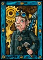 Steam punk fairy ACEO aviator by candcfantasyart