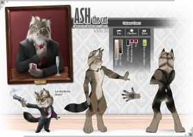 Commission for Ash - Character Reference Sheet by Scifer