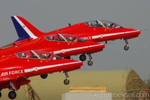 Red Arrows Takeoff by keremizmir