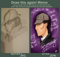 IMPROVEMENT MEME LOOK  I ACTUALL Y DID SOMETHING by Lambehnator